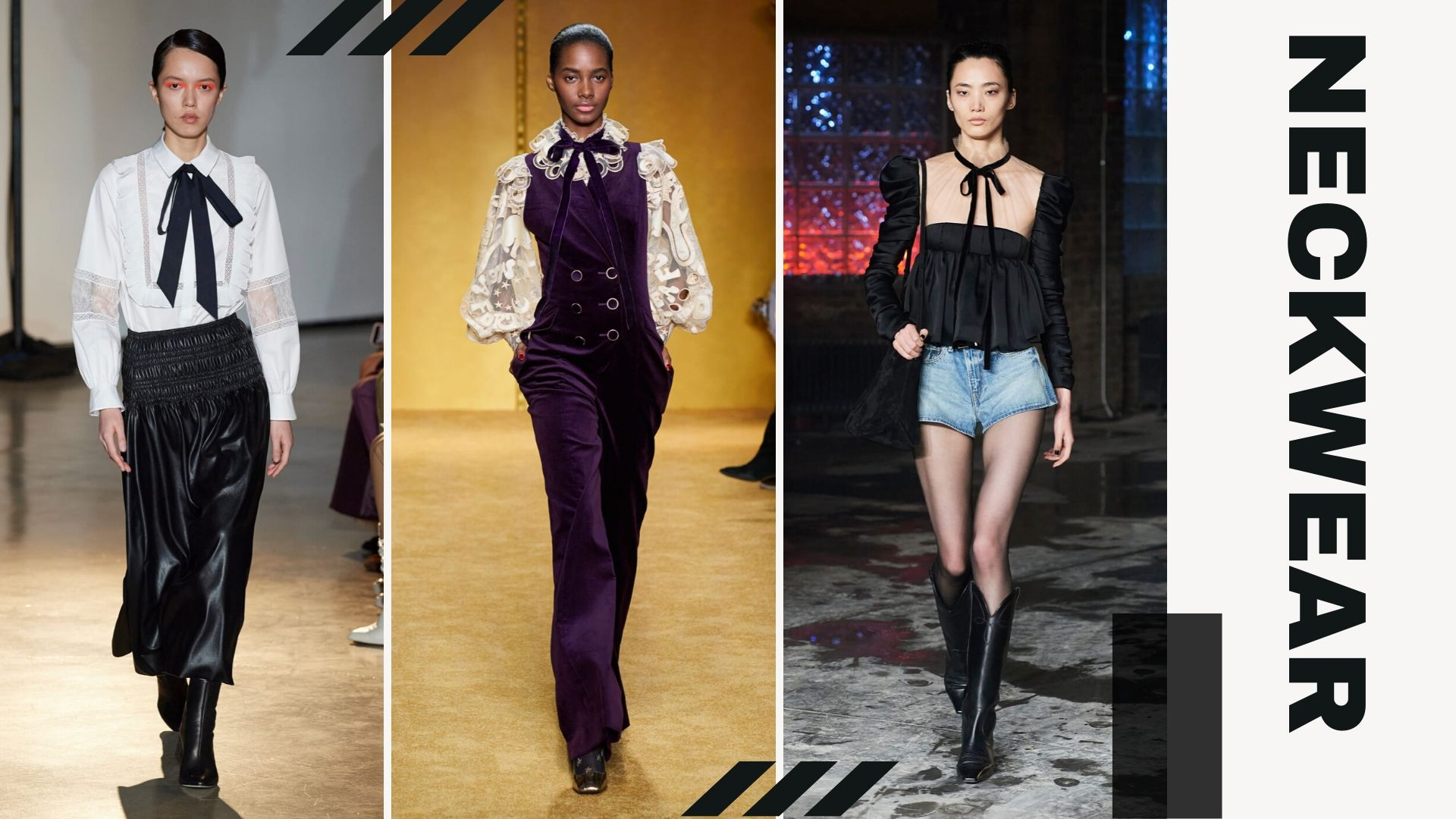 Top 5 trends from New York Fashion Week Fall/Winter 2020 - Neckwear