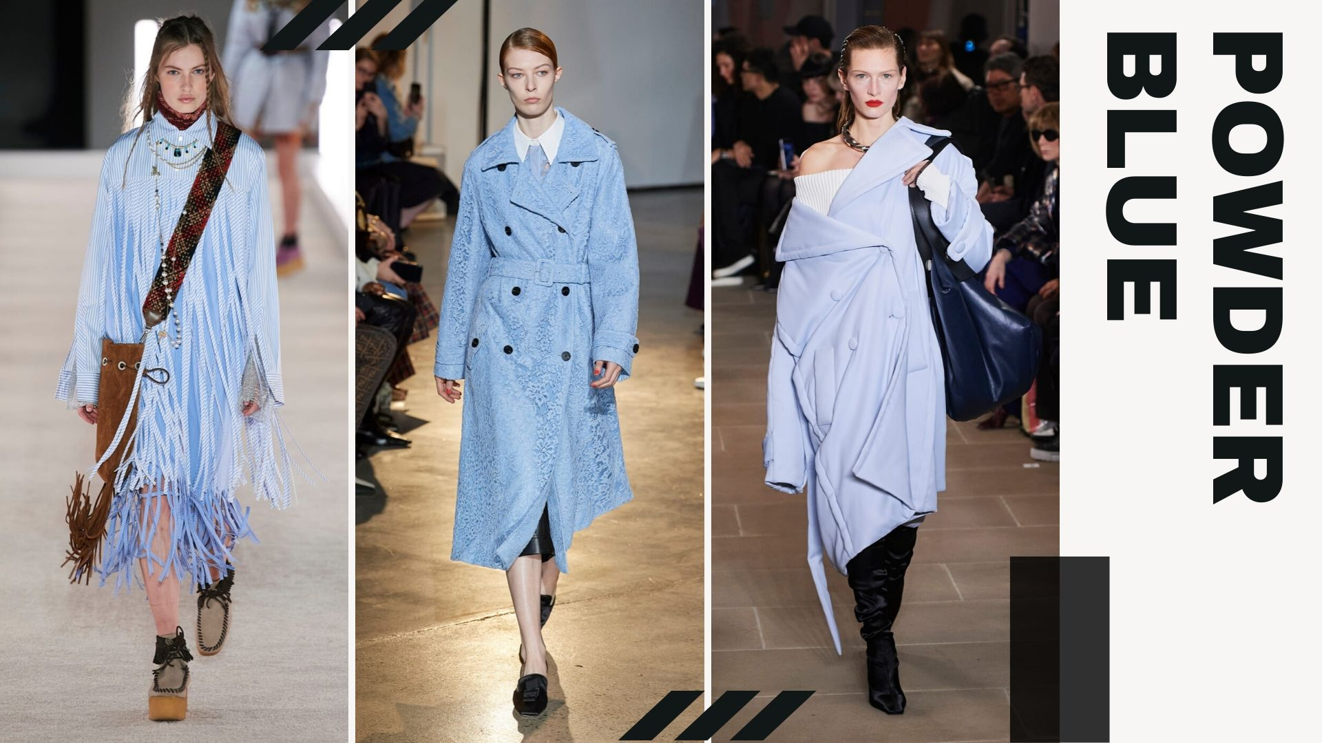 Top 5 trends from New York Fashion Week Fall/Winter 2020 - Power Blue