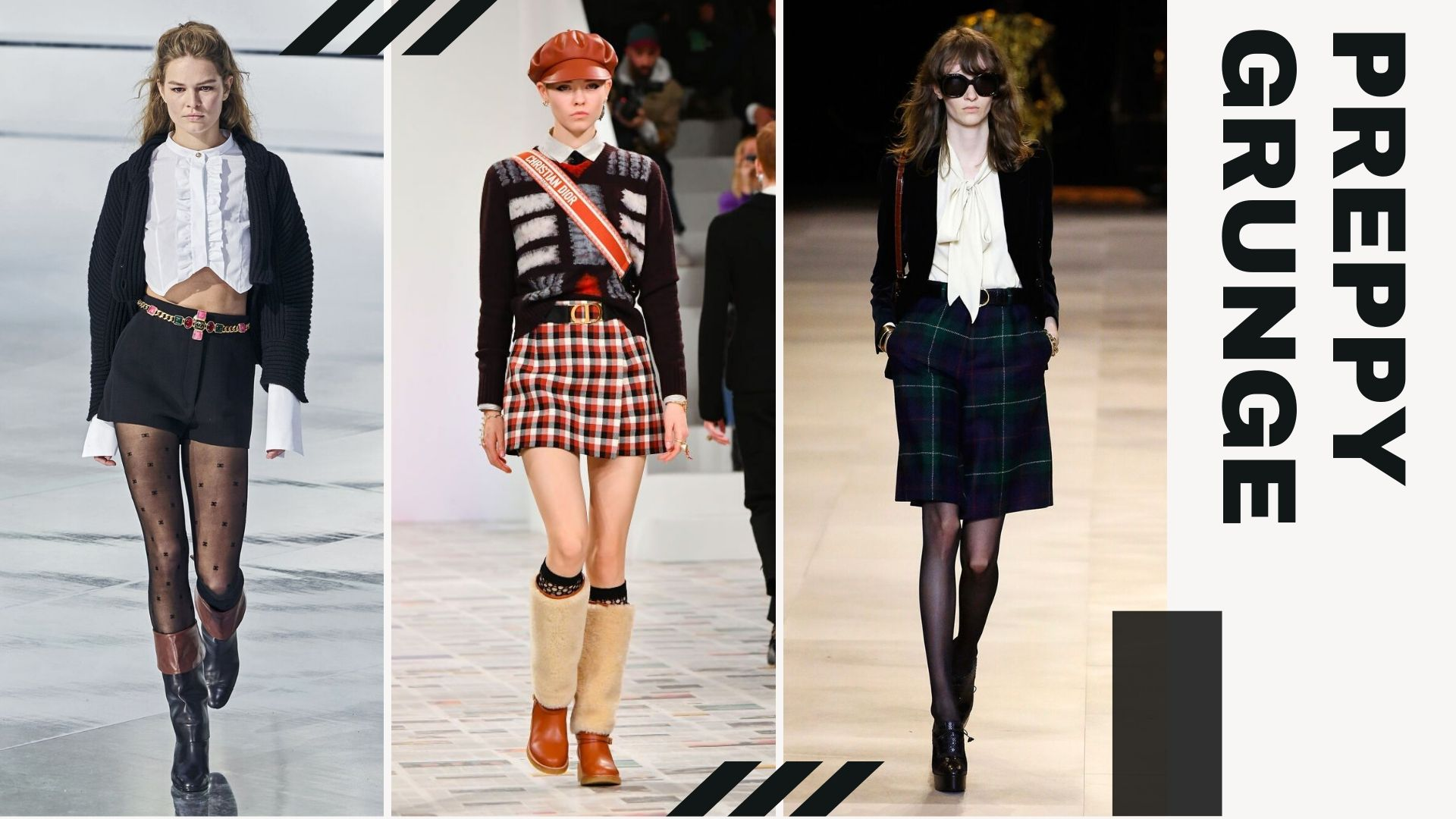 TOP 5 TRENDS FROM PFW F/W - Preppy Grunge