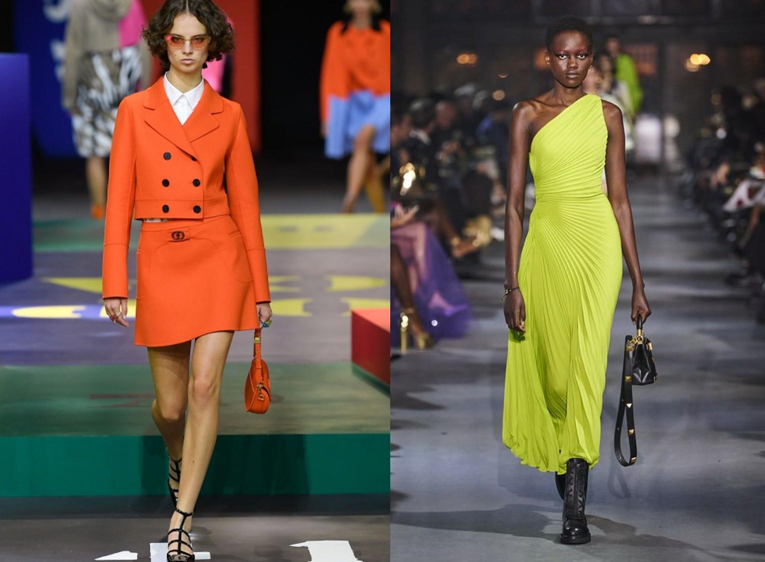 PARIS FASHION WEEK TRENDS: Vibrant Colors